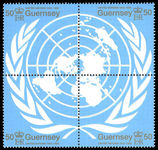 Guernsey 1995 United Nations block unmounted mint.