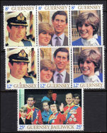 Guernsey 1981 Royal Wedding unmounted mint.