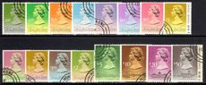 Hong Kong 1989-91 set of 1989 imprint values fine used.