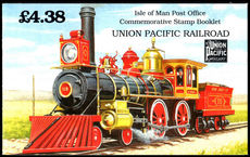 Isle of Man 1992 Union Pacific Railroad booklet unmounted mint.