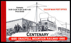 Isle of Man 1995 Snaefell Mountain Railway booklet unmounted mint.