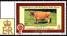 Jersey 1979 Jersey Cattle 25p GOLD PRINTING DOUBLE unmounted mint.