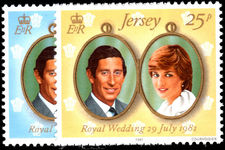 Jersey 1981 Royal Wedding unmounted mint.