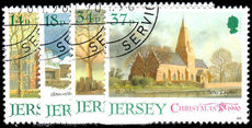 Jersey 1990 Christmas. Jersey Parish Churches fine used.