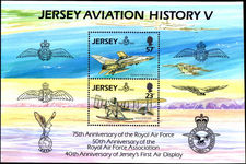 Jersey 1993 RAF souvenir sheet unmounted mint.