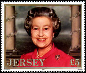 Jersey 1996 70th Birthday of Queen Elizabeth unmounted mint.
