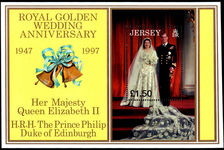 Jersey 1997 Golden Wedding souvenir sheet unmounted mint.