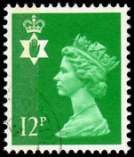 Northern Ireland 1971-93 12p bright emerald Questa Litho fine used.