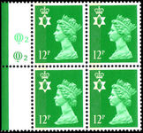 Northern Ireland 1971-93 12p bright emerald Questa Litho block of 4 unmounted mint.