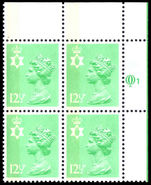 Northern Ireland 1971-93 12½p light emerald Questa Litho block of 4 unmounted mint.