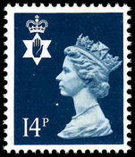 Northern Ireland 1971-93 14p deep-blue Questa Litho unmounted mint.