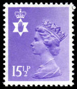 Northern Ireland 1971-93 15½p pale violet Questa Litho unmounted mint.