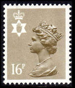 Northern Ireland 1971-93 16p drab perf 15x14 Questa Litho unmounted mint.