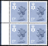 Northern Ireland 1971-93 17p grey-blue type II Questa Litho block of 4 unmounted mint.