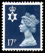 Northern Ireland 1971-93 17p deep blue Questa Litho unmounted mint.