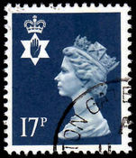 Northern Ireland 1971-93 17p deep blue Questa Litho fine used.