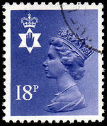 Northern Ireland 1971-93 18p deep violet Questa Litho fine used.