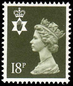 Northern Ireland 1971-93 18p deep olive-grey Questa Litho unmounted mint.