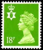 Northern Ireland 1971-93 18p bright green Questa Litho perf 15x14 unmounted mint.