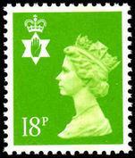 Northern Ireland 1971-93 18p bright green perf 14 Questa Litho unmounted mint.