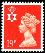 Northern Ireland 1971-93 19p bright orange-red Questa Litho unmounted mint.