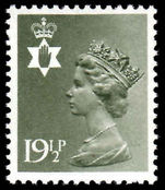 Northern Ireland 1971-93 19½p olive-grey Questa Litho unmounted mint.