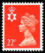 Northern Ireland 1971-93 22p bright orange red Questa Litho unmounted mint.