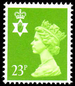 Northern Ireland 1971-93 23p bright green Questa Litho unmounted mint.