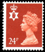 Northern Ireland 1971-93 24p Indian red Questa Litho unmounted mint.