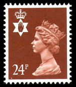 Northern Ireland 1971-93 24p chestnut phosphorised paper Questa Litho unmounted mint.