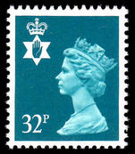 Northern Ireland 1971-93 32p greenish blue Questa Litho unmounted mint.