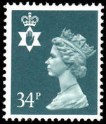 Northern Ireland 1971-93 34p deep bluish grey Questa Litho unmounted mint.