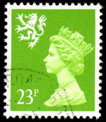 Scotland 1971-93 23p bright-green phosphorised paper Litho Questa fine used.