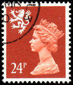Scotland 1971-93 24p Indian red Litho Questa fine used.