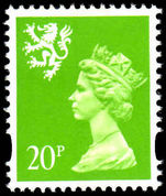 Scotland 1993-98 20p bright green Litho Questa unmounted mint.