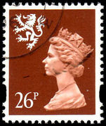Scotland 1993-98 26p red brown Litho Questa fine used.