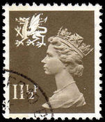 Wales 1971-93 11½p drab Litho Questa fine used.