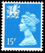 Wales 1971-93 15p bright-blue Litho Questa