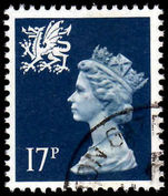 Wales 1971-93 17p deep blue Litho Questa fine used.