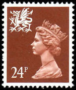 Wales 1971-93 24p chestnut Litho Questa unmounted mint.