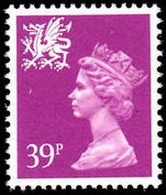 Wales 1971-93 39p bright mauve Litho Questa unmounted mint.