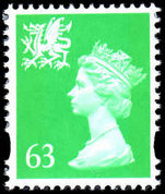 Wales 1997-98 63p light emerald without p unmounted mint.