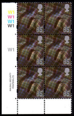 Scotland 1999-2002 65p Gravure pictorial cylinder block 1 unmounted mint.