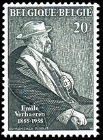 Belgium 1955 Birth Centenary of Verhaeren unmounted mint.