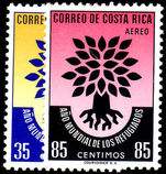 Costa Rica 1960 World Refugee Year unmounted mint.