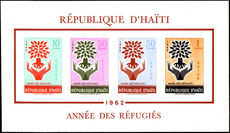 Haiti 1962 World Refugee Year souvenir sheet unmounted mint.