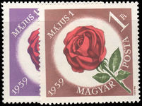 Hungary 1959 May Day roses unmounted mint.