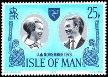Isle of Man 1973 Royal Wedding unmounted mint.