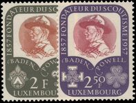 Luxembourg 1957 Baden-Powell scouts unmounted mint.