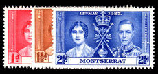 Montserrat 1937 Coronation set unmounted mint.